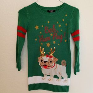 Bah Hum Pug! Its our Time Christmas Sweater Dress